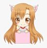 a catgirl